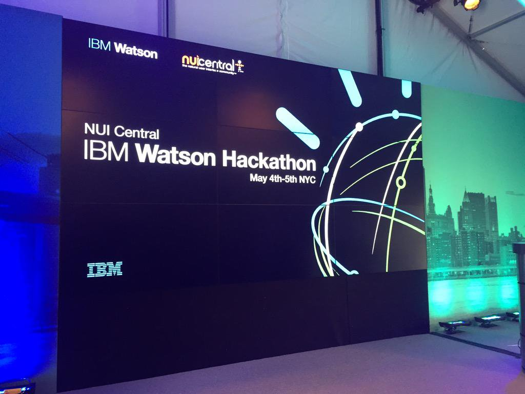 The stage at the IBM Watson Hackathon